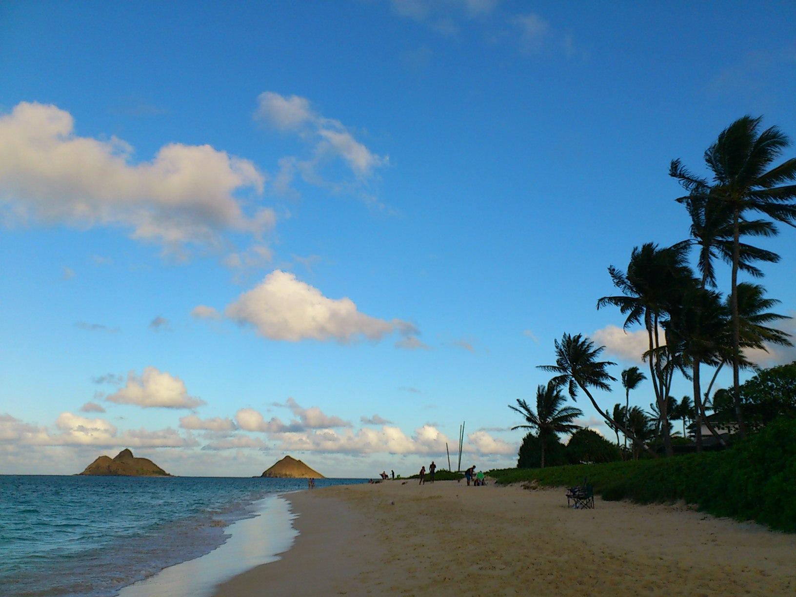 Before sunset at Lanikai beach